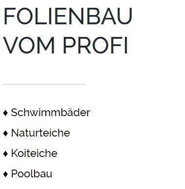 Schwimmbadbau in Bochum - Teichfolie schweißen, Swimmingpools, Poolfolie, Fischteiche, PVC Folien