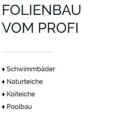 Poolbau Chemnitz - Teichfolie schweißen, Koiteiche, Poolfolie, Swimmingpools, PVC Folien