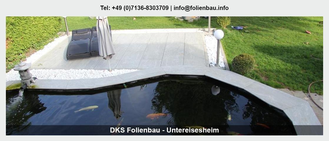 Teichfolie schweißen Hamburg - DKS Poolbau & Teichbau: Koiteiche, Schwimmbäder, Pool bauen,