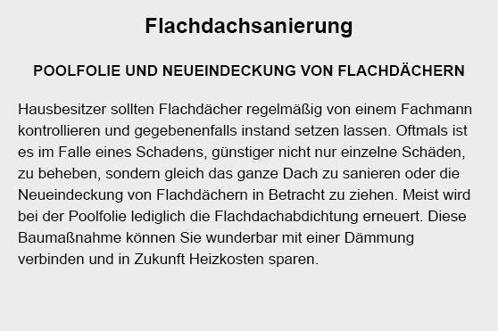 Flachdachsanierung in  Hamburg