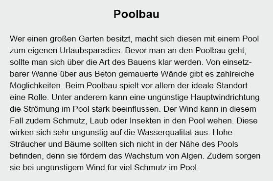 Poolbau in 70173 Stuttgart